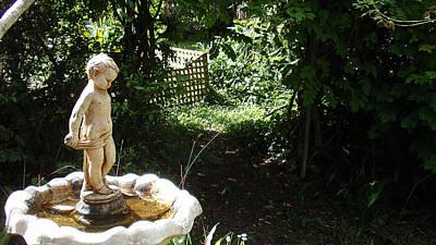 Cupid Of The Garden Art Print by Edan Chapman