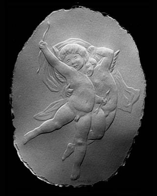 Art Print featuring the relief Cupids by Suhas Tavkar