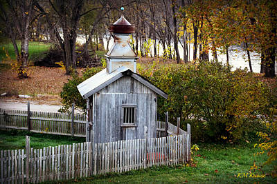 Photograph - Cupola Shed By The River by Kathy M Krause