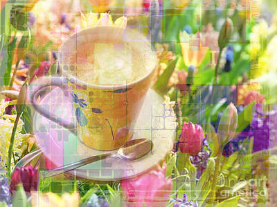 Digital Art - Cuppa Monet 2015 by Kathryn Strick