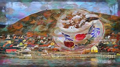Digital Art - Cuppa Scandinavia 2015 by Kathryn Strick