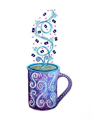 Cuppa Series - Cup Of Creativity Art Print by Moon Stumpp