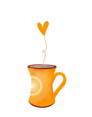 Food And Beverage Digital Art - Cuppa Series - Cuppa Sunshine by Moon Stumpp