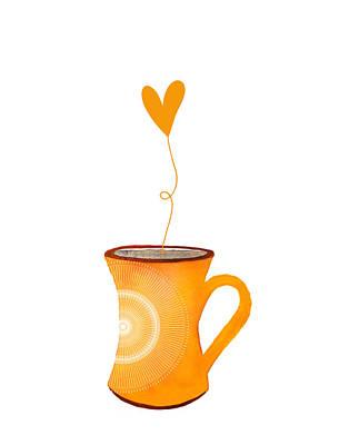 Food And Beverage Digital Art - Cuppa Series - Cuppa Sunshine by Moon Stumpp