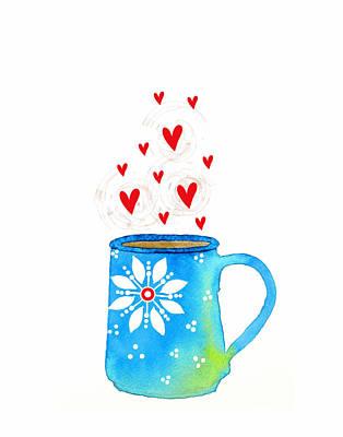 Food And Beverage Digital Art - Cuppa Series - Java Love by Moon Stumpp