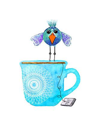 Food And Beverage Digital Art - Cuppa Series - Tea Taster by Moon Stumpp