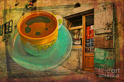 Digital Art - Cuppa Tuscany 2015 by Kathryn Strick