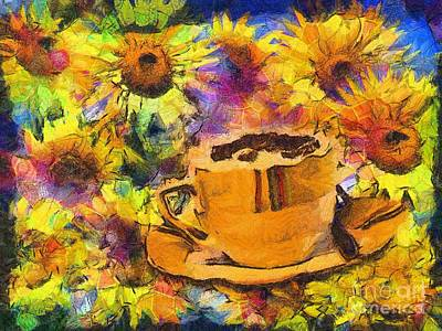 Digital Art - Cuppa Van Gogh 2015 by Kathryn Strick
