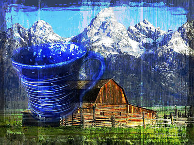 Digital Art - Cuppa Wyoming 2015 by Kathryn Strick