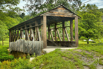 Photograph - Cuppett's Bridge In The Woods by Adam Jewell