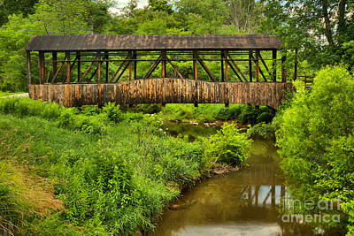 Photograph - Cuppett's Covered Bridge by Adam Jewell