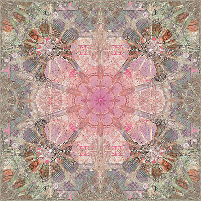 Digital Art - Cuppycake Celtic Pinks by Deborah Runham