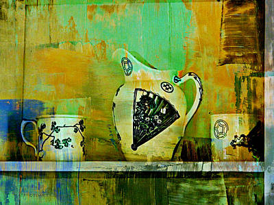 Photograph - Cups And Pitcher by Kathy Barney