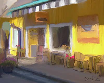 Painting - Cups Espresso Poulsbo Wa by Wally Hampton