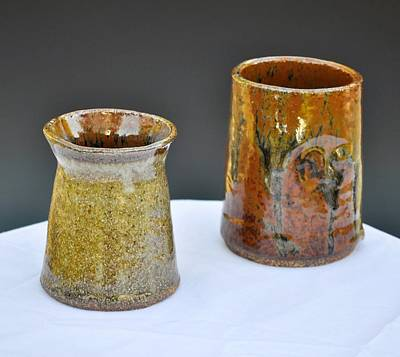 Ceramic Art - Cups by Kristen R Kennedy