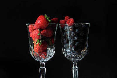 Photograph - Cups Of Berries by Angela Murdock