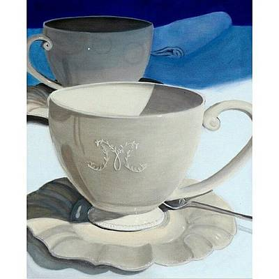 University Photograph - Cups Of Coffee In A Quiet by Karyn Robinson