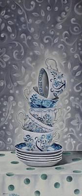 Cups Art Print by Rebecca Tecla