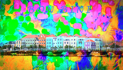 Mixed Media - Curacao Bon Bini Large Canvas Art, Canvas Print, Large Art, Large Wall Decor, Home Decor, Photograph by David Millenheft