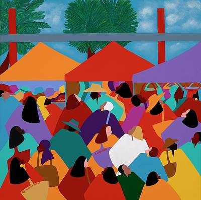 Painting - Curacao Market by Synthia SAINT JAMES