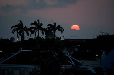 Photograph - Curacao Sun Rise by Allen Carroll