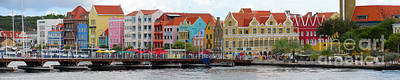 Digital Art - Curacao Willemstad Panorama by Eva Kaufman
