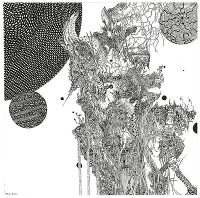Gaia Drawing - Curandero by Bobby Hermesch