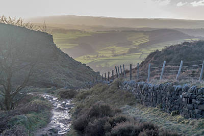 Photograph - Curbar Edge Path Down The Valley by Scott Lyons