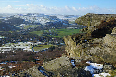 Photograph - Curbar Edge Rock Formation by David Birchall