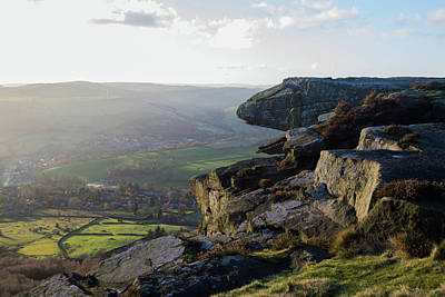 Photograph - Curbar Edge Rock Tongue by Scott Lyons