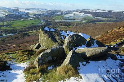 Photograph - Curbar Edge Rocks by David Birchall