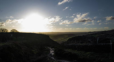 Photograph - Curbar Edge Sunset by Scott Lyons