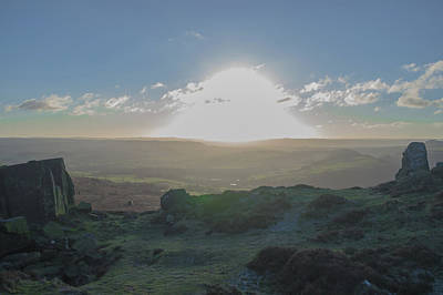 Photograph - Curbar Edge Sunset Through The Clouds by Scott Lyons