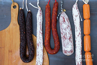 Cured Meat And Sausages Art Print