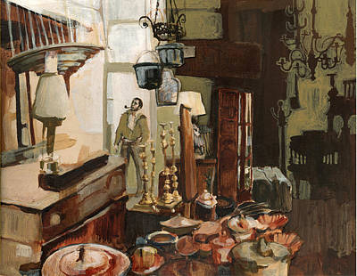 Painting - Curio Shop by Nancy Watson
