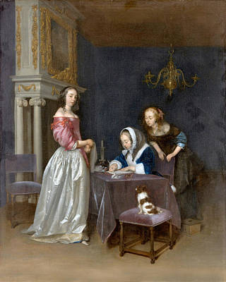 Photograph - Curiosity By Borch by Gerard ter Borch the Younger