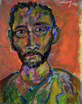 Self-portrait Mixed Media - Curiosity by Noredin Morgan