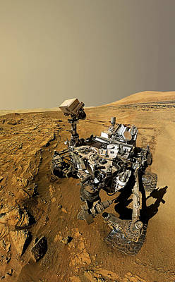 Photograph - Curiosity Self-portrait At Windjana Drilling Site by Weston Westmoreland