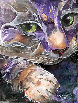 Art Print featuring the painting Curiosity by Sherry Shipley