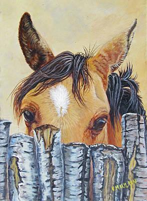 Animal Behavior Painting - Curiosity by Victoria Mauldin