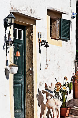 Photograph - Curious 13 Street Door by Pedro Cardona Llambias