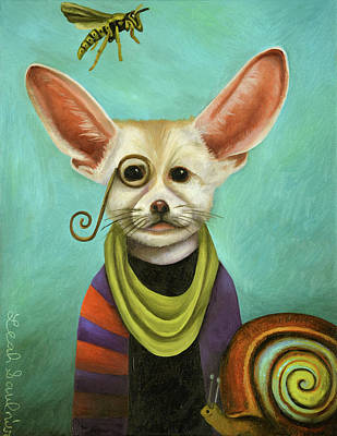 Art Print featuring the painting Curious As A Fox by Leah Saulnier The Painting Maniac