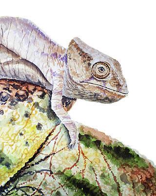 Painting - Curious Baby Chameleon by Irina Sztukowski