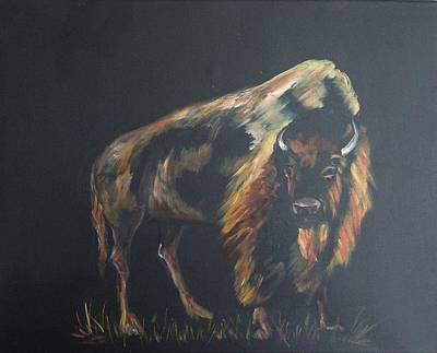 Painting - Curious Bison by Ellen Canfield