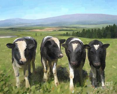 Painting - Curious Cows by Ivana Westin