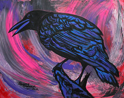 Cawing Painting - Curious Crow  by Dennis Nadeau