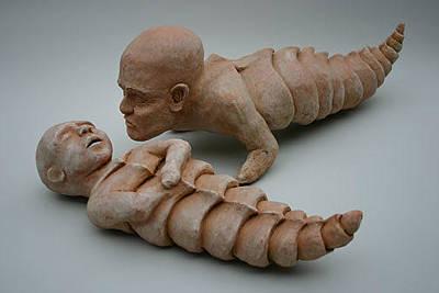 Ceramic Mixed Media - Curious by Erica Quinn-Radke