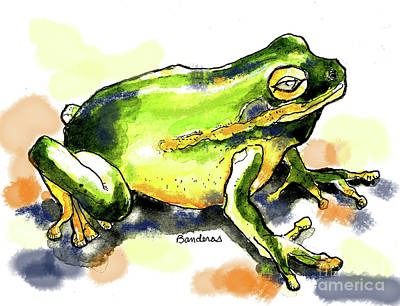 Painting - Curious Frog by Terry Banderas