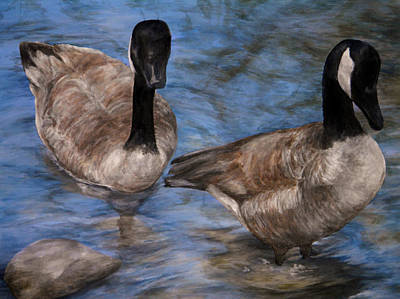 Art Print featuring the painting Curious Geese by Meagan  Visser