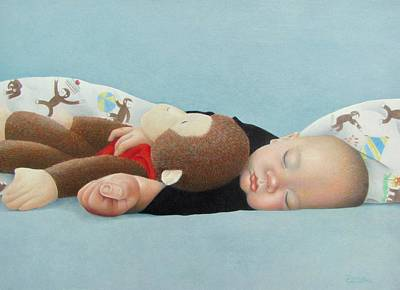 Painting - Curious George by Pamela Clements